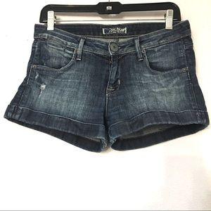 Hudson cuffed jean short. Size 27